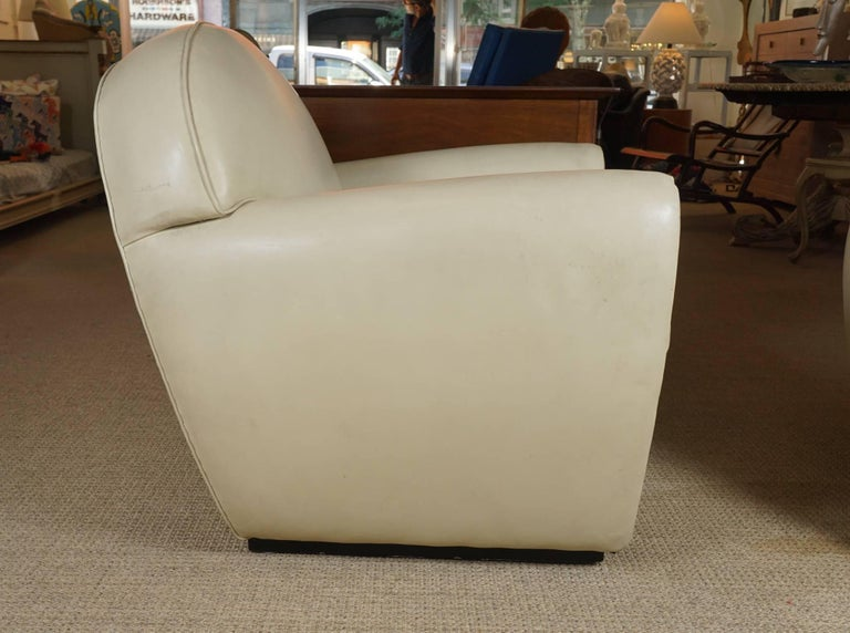Pair of Leather Club Chairs 5