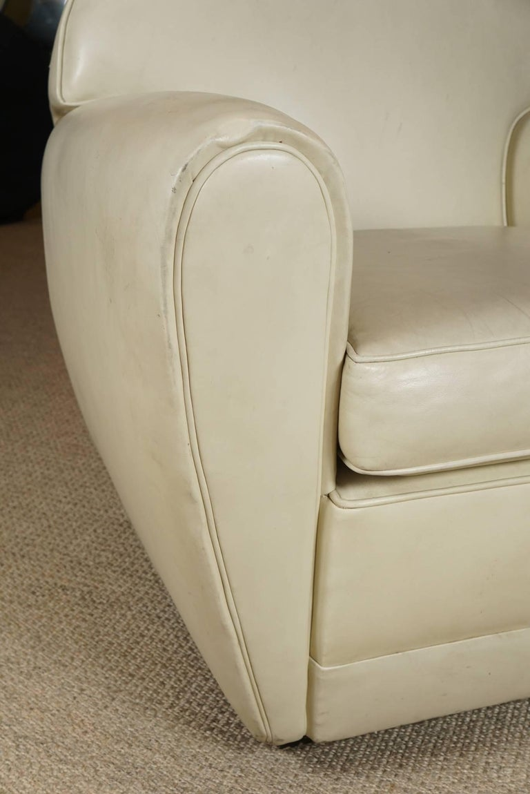 Pair of Leather Club Chairs 8