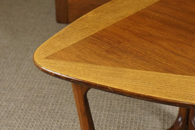 Pair of Triangular Wood End Tables 9