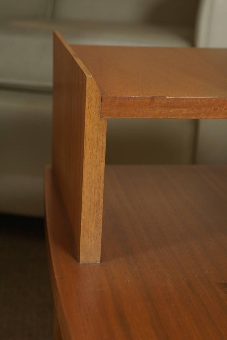 Pair of Stepped End Tables in Maple For Sale 1