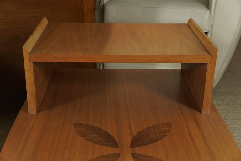 Pair of Stepped End Tables in Maple For Sale 2