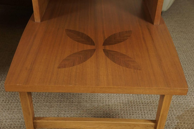 Pair of Stepped End Tables in Maple 9
