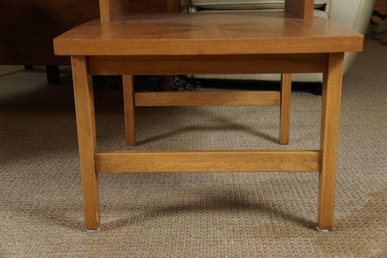 Pair of Stepped End Tables in Maple 10