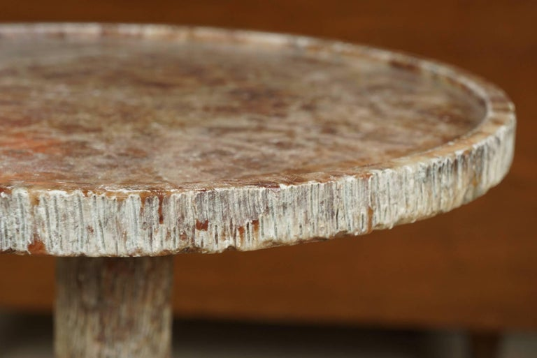 Marble Drinks Table in a Faux Bois 8