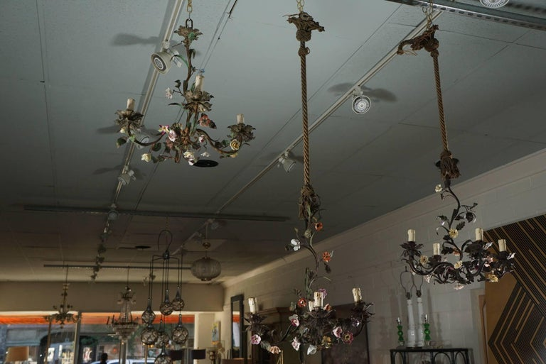 Tole Flower Bouquet Chandeliers 2