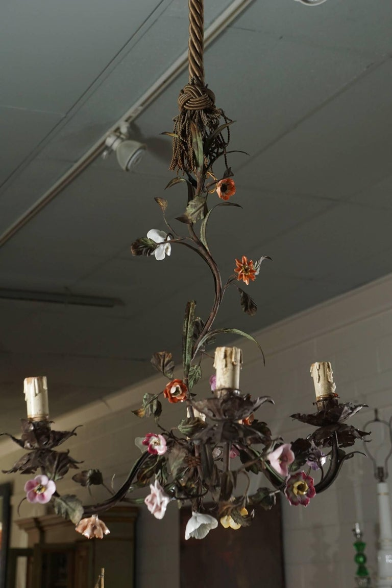 Tole Flower Bouquet Chandeliers 4