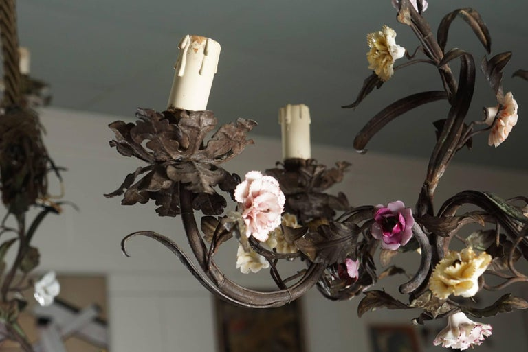 Tole Flower Bouquet Chandeliers 10