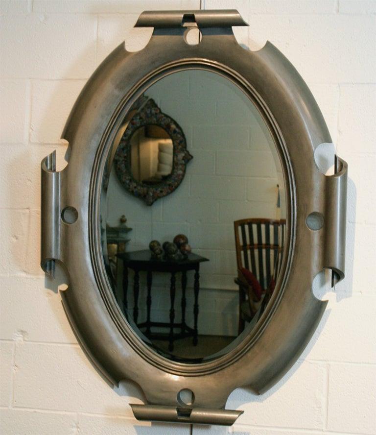 American Oval Shield Mirror For Sale