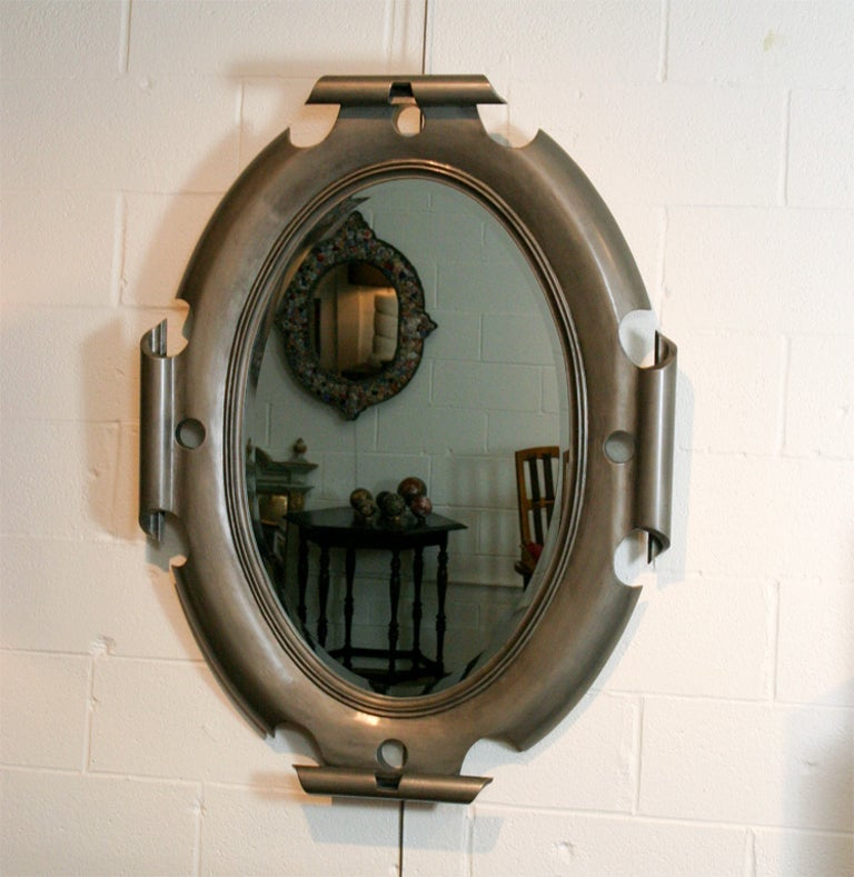 Oval Shield Mirror For Sale 2
