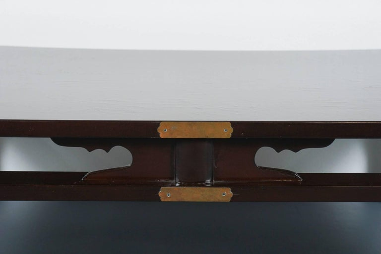 Lacquered Chinese Coffee Table in Dark Brown 4