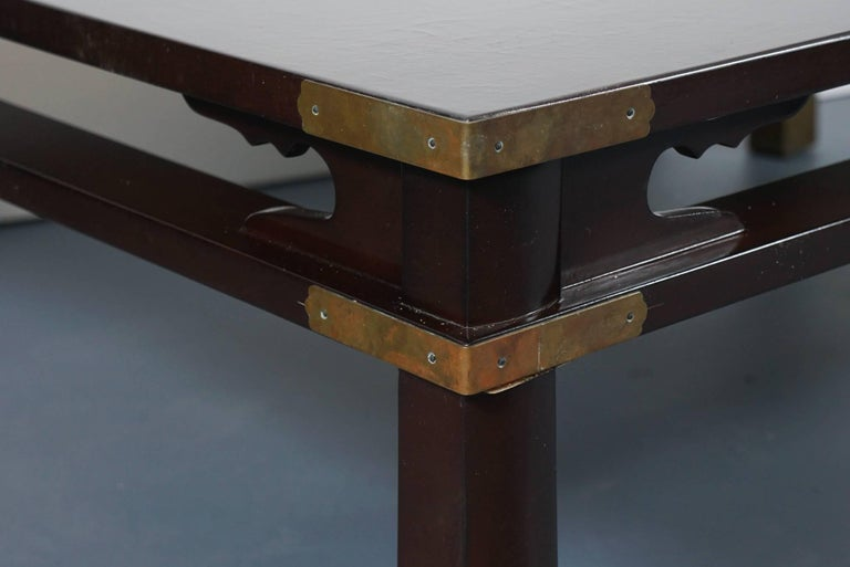 Lacquered Chinese Coffee Table in Dark Brown 5