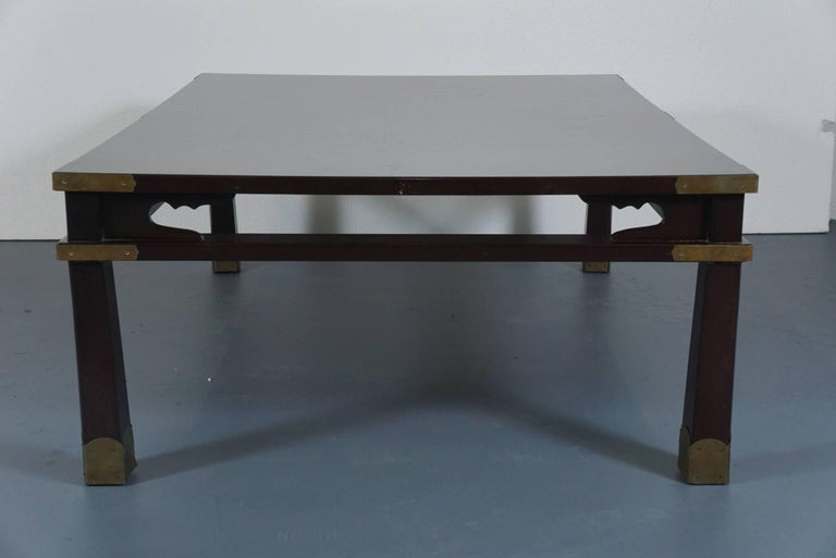 Lacquered Chinese Coffee Table in Dark Brown 8