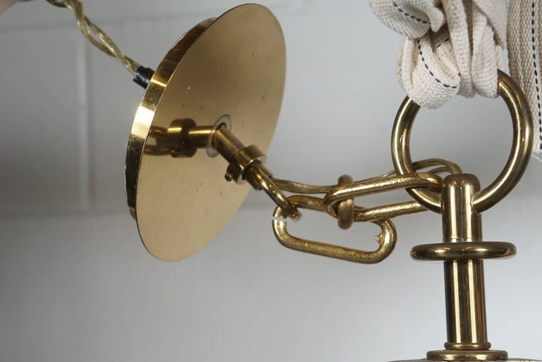 Mid-Century Modern Tommi Parzinger Brass Chandelier For Sale