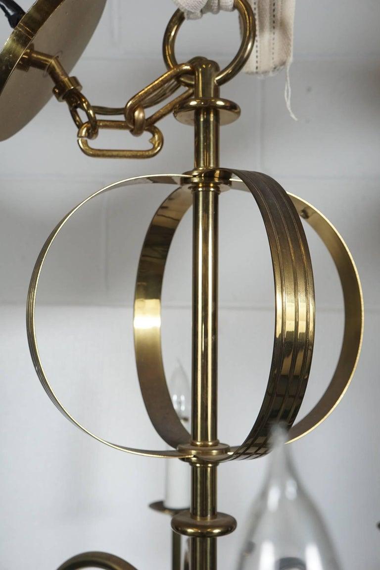 Tommi Parzinger Brass Chandelier For Sale 4