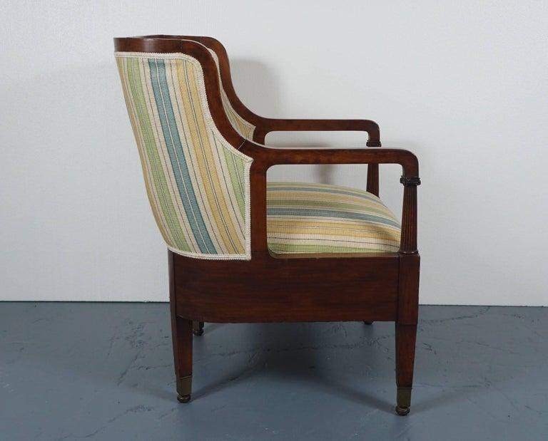 Empire Mahogany Chair in Striped Fabric 4