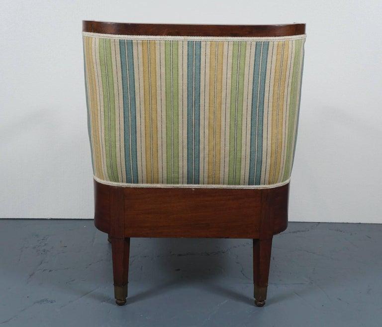 Empire Mahogany Chair in Striped Fabric 5