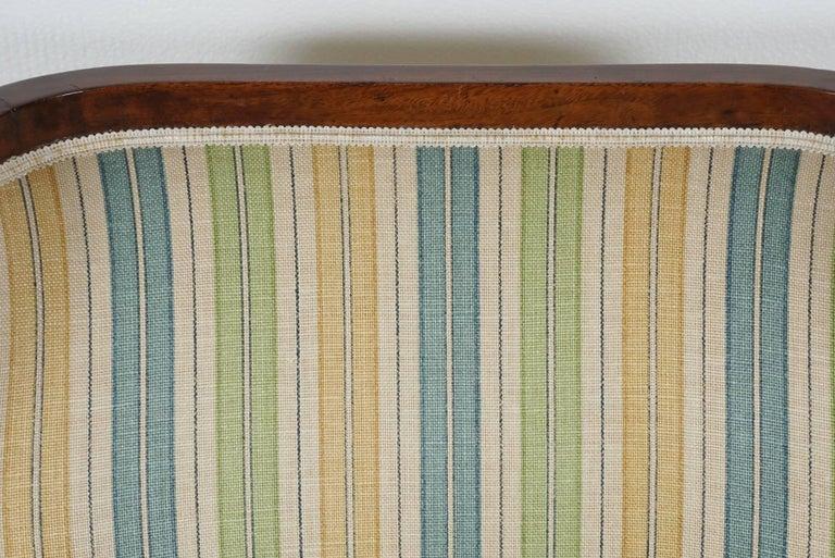 Empire Mahogany Chair in Striped Fabric 6