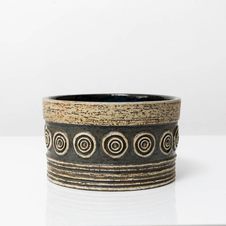 Scandinavian Modern Studio Bowl by Britt-Louise Sundell for Gustavsberg In Excellent Condition For Sale In New York, NY
