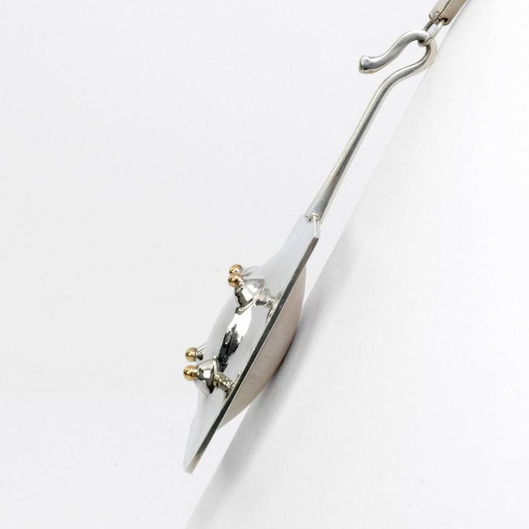 Scandinavian Modern Sterling Silver Pendant with Chain by Ove Bohlin, 1972 In Excellent Condition For Sale In New York, NY