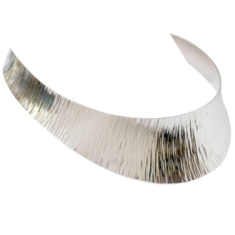 "Scandinavian Modern Silver Collar ""Stigbert"" for Atelje Waldemar Jonsson For Sale"