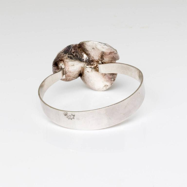 20th Century Scandinavian Modern Silver Bracelet by Theresia Hvorslev, Sweden For Sale