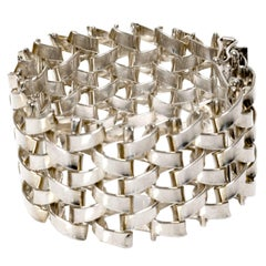 Scandinavian Modern Silver Link Bracelet Jo'ans Koping Sweden, 1972