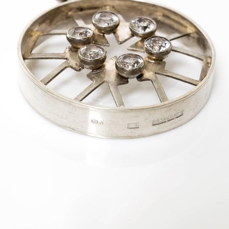 20th Century Silver Scandinavian Modern Pendant by Kultateollisuus Ky Turku, Finland, 1972 For Sale