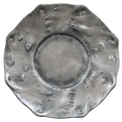 Swedish Art Nouveau Pewter Charger by Olof Ahlberg, for Schreuder & Olsson