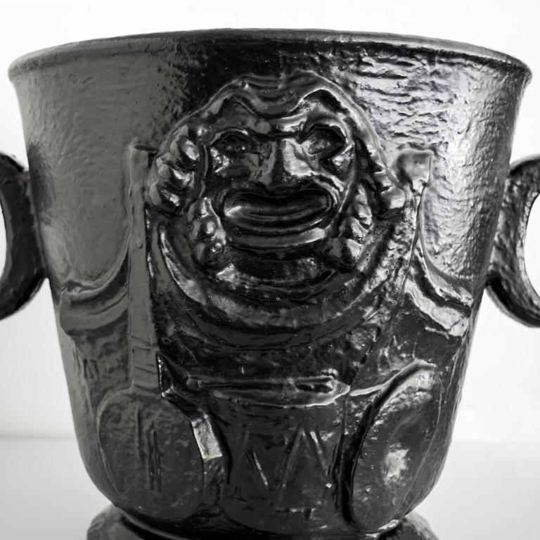 20th Century Scandinavian Modern  Näfveqvarns Bruk Cast Iron Leisure Urn For Sale