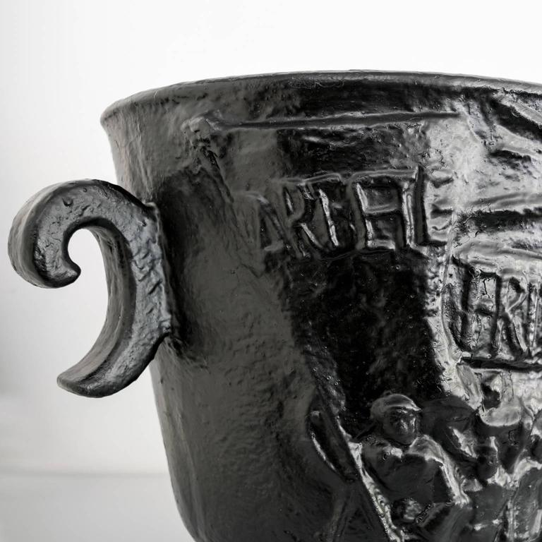 Scandinavian Modern  Näfveqvarns Bruk Cast Iron Leisure Urn For Sale 1