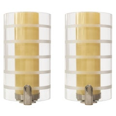 Bohlmarks Scandinavian Modern Art Deco Double Shade Sconces