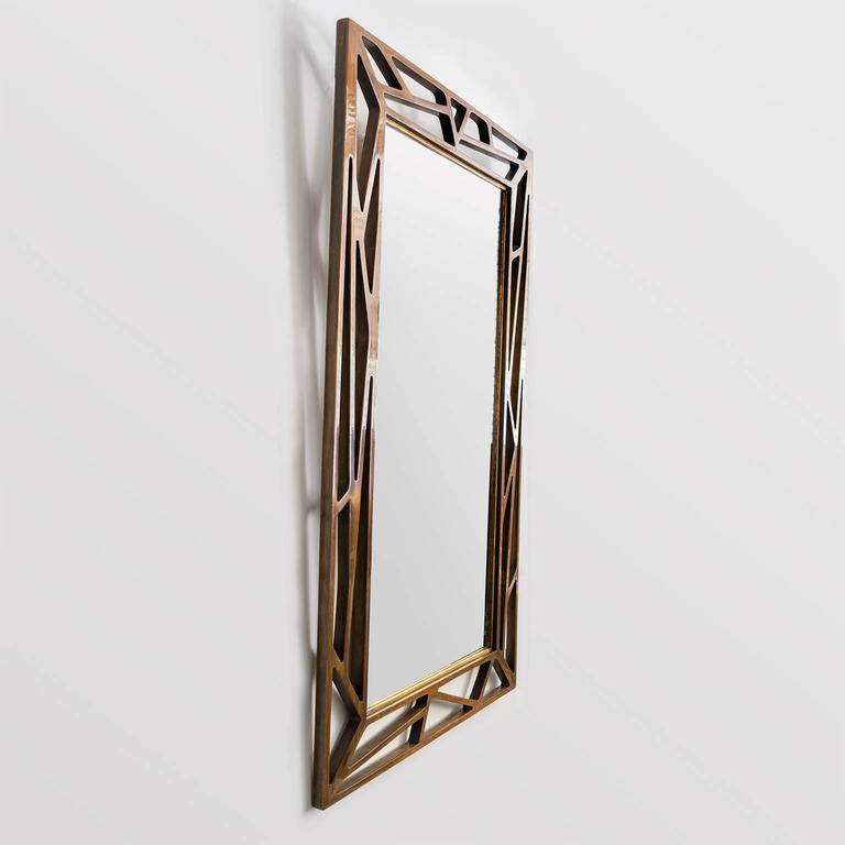Scandinavian Modern Eden Gustaf Mirror with Stained Wood Frame 3