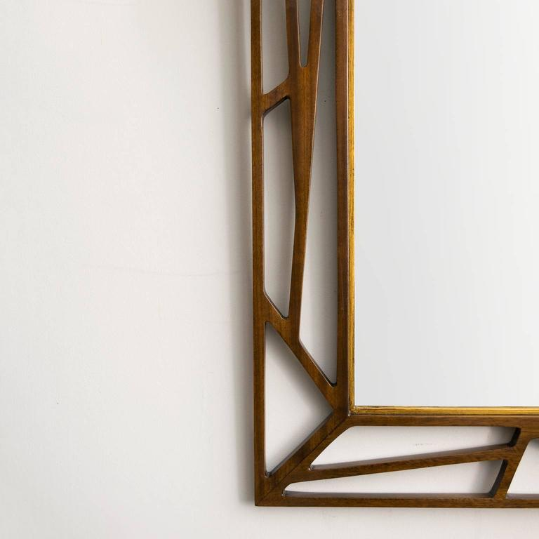 Scandinavian Modern Eden Gustaf Mirror with Stained Wood Frame 5