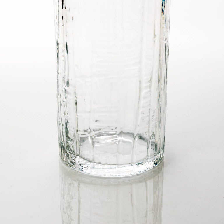 Scandinavian Modern Tall Swedish Mid Century Glass Vase By Pukeberg