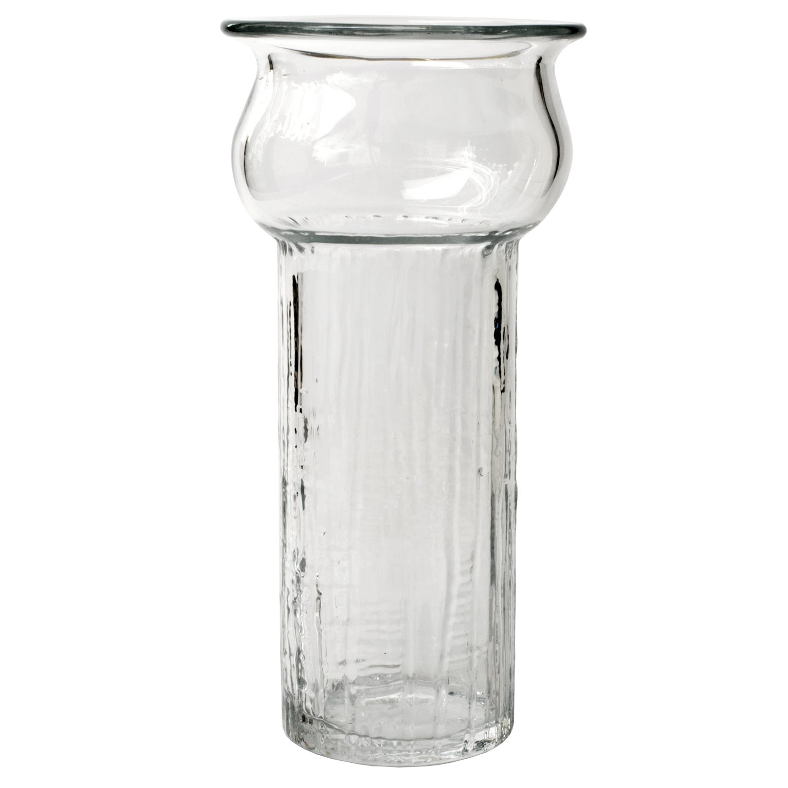 Scandinavian Modern Tall Swedish Mid-Century Glass Vase by Pukeberg