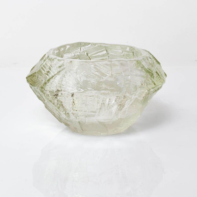 Scandinavian Modern Mid-Century Clear Glass Bowl by Gore Augustsson, Ruda For Sale 1
