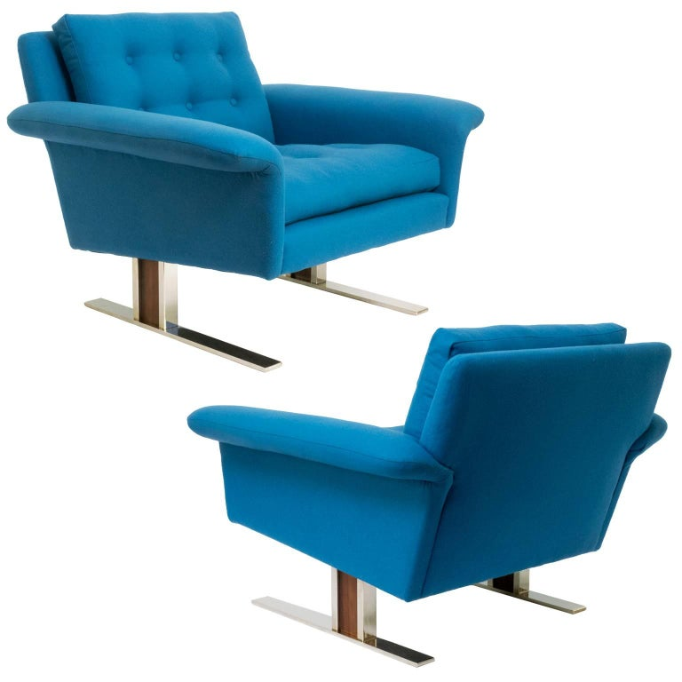 Pair of Scandinavian Modern Chairs by Johannes Andersen for AB Trensums, Sweden 1