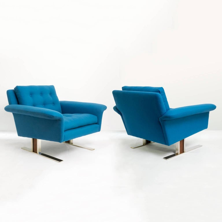 Pair of Scandinavian Modern Chairs by Johannes Andersen for AB Trensums, Sweden 2