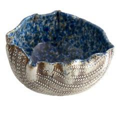 Scandinavian Modern Hand Built Glazed Bowl by Artist Bengt Berglund Gustavsberg