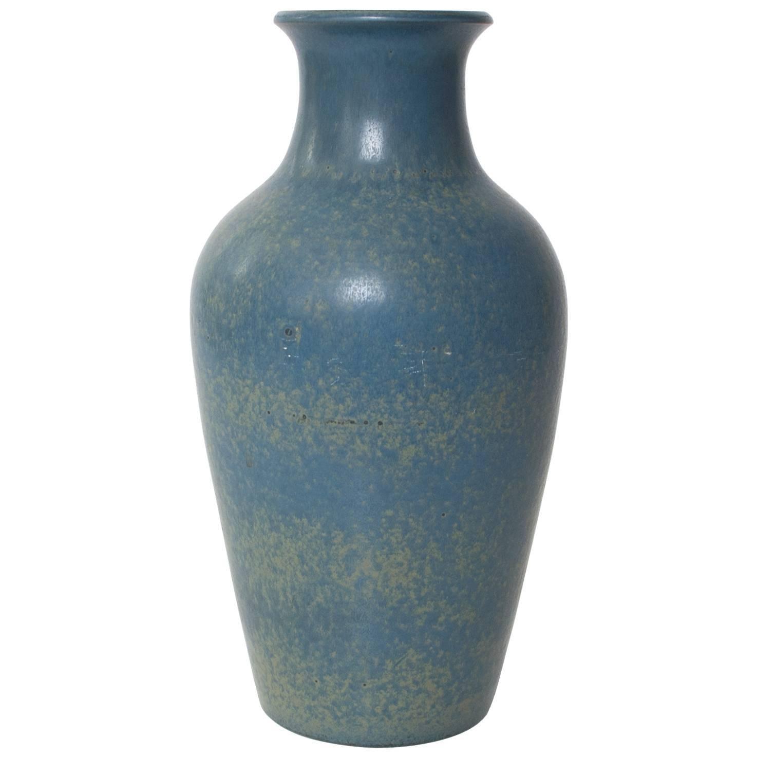 Scandinavian Modern Blue Vase with Glaze by Gunnar Nylund, Rörstrand