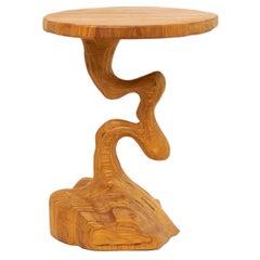 Scandinavian Modern Crooked Column Table