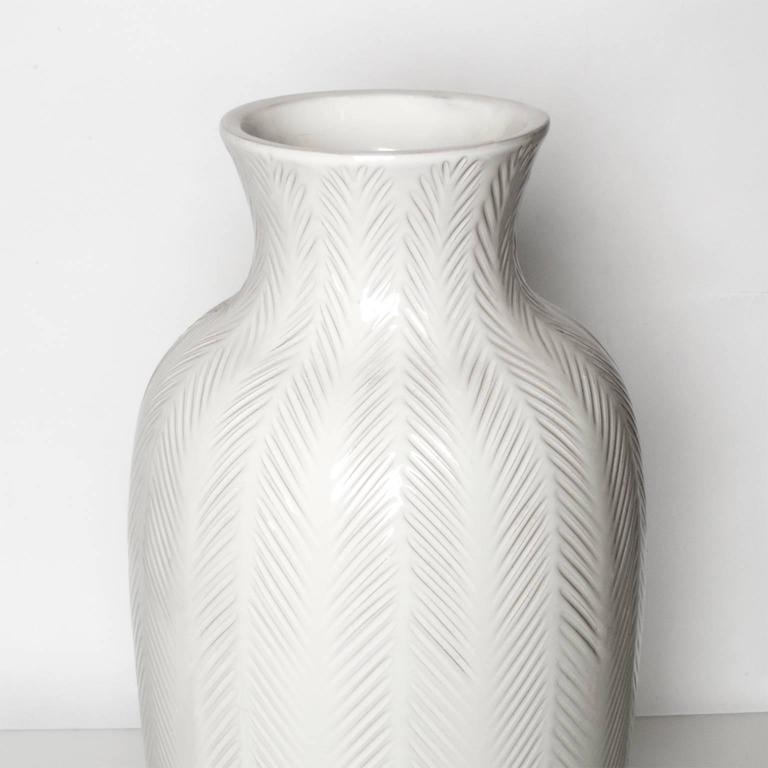 interesting white ceramic vases. Large Swedish Art Deco  White Ceramic Vase by Anna Lisa Thomson For Sale at 1stdibs