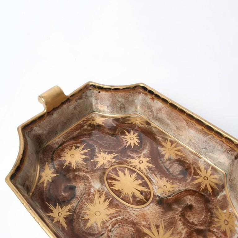 Glazed Swedish Art Deco Tray or Bowl by Josef Ekberg for Gustavsberg For Sale