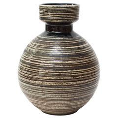 Scandinavian Modern Large Studio Vase by Britt-Louise Sundell for Gustavsberg