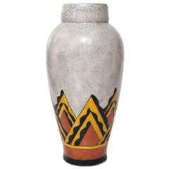 Art Deco Ceramic Vase by Charles Catteau for Boch Freres, Belgium
