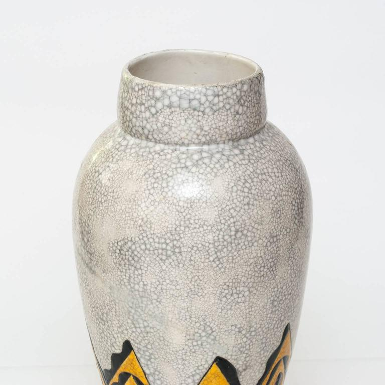 Art Deco Ceramic Vase By Charles Catteau For Boch Freres Belgium