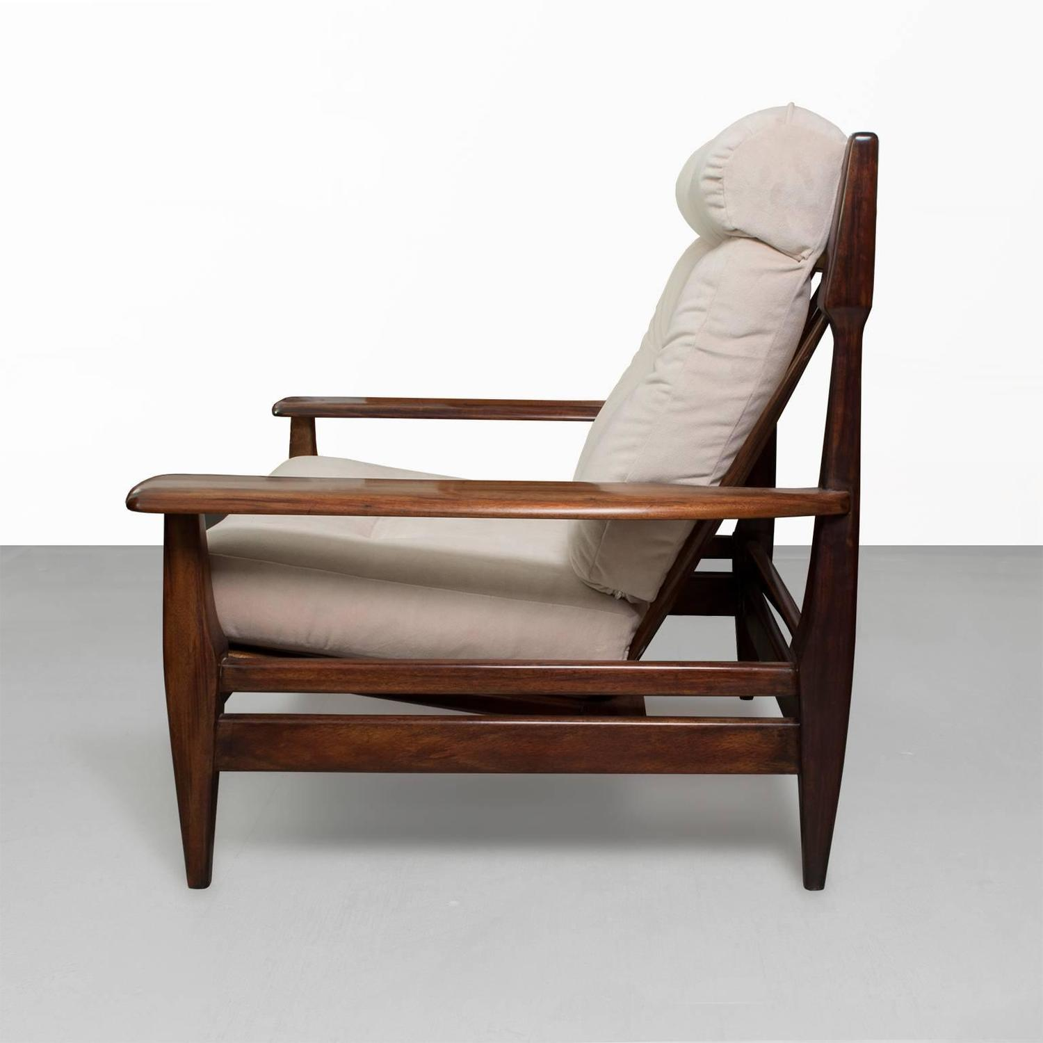 Pair of large mid century modern brazilian carved solid rosewood lounge chairs at 1stdibs - Brazilian mid century modern furniture ...