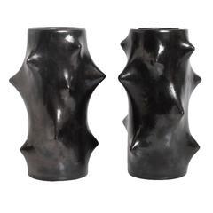 Two Scandinavian Modern Mid-Century Ceramic Vases by Knud Basse