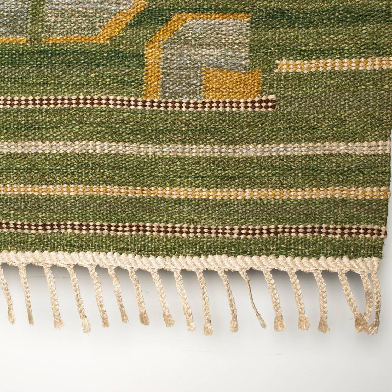 Modern Scandinavian Rug: Scandinavian Modern Wool Flat-Weave Rug From Nordiska