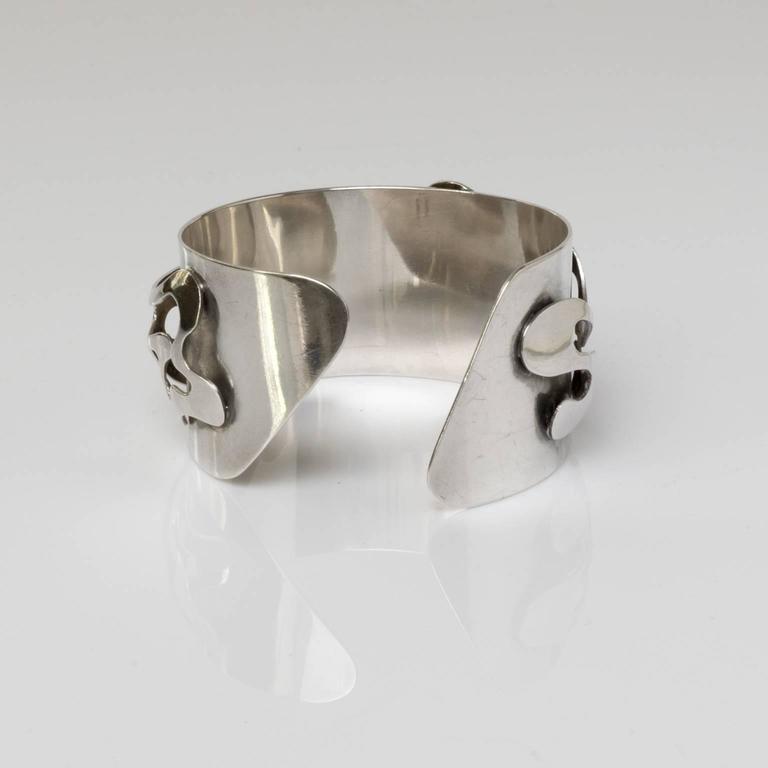 Scandinavian Modern Silver Bracelet, Henry Marius Jacobsen Bracelet Copenhagen, For Sale 1